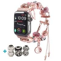 Correa de reloj para mujer, accesorio deportivo para apple watch 5, 4, 44mm, iwatch, 42mm, 40mm, Serie 3, 2, pulsera de 38mm