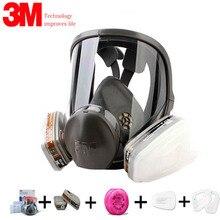 Authentieke 7/9/17In1 3M 6800 Schilderen Spray Gas Masker Organische Dampen Veiligheid Respirator Volgelaatsmasker Bescherming respirator