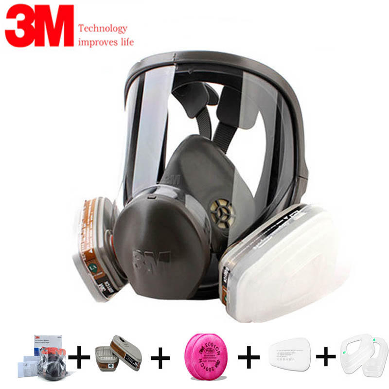 Authentique 7/9/17In1 3M 6800 peinture masque à gaz vaporisateur vapeurs organiques respirateur de sécurité masque de Protection masque complet
