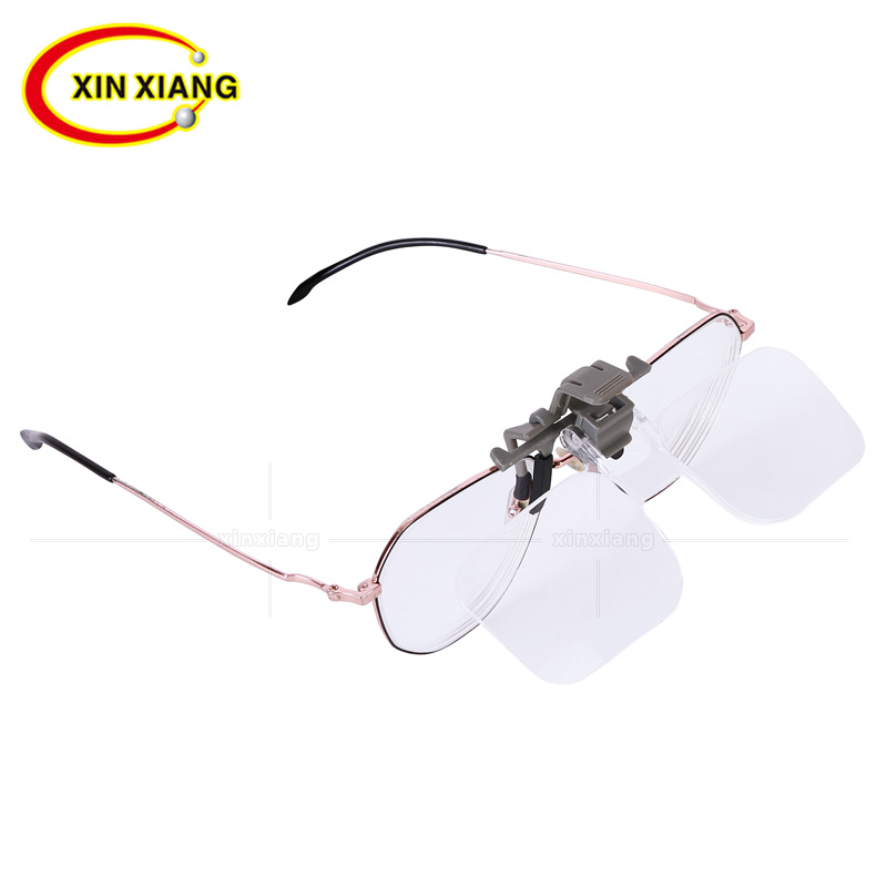 Head-mounted clip Glasses Magnifier 2X Magnifying Glass Eyewear Magnifier Reading Newspaper Jewelry Loupe Elderly People Lupe