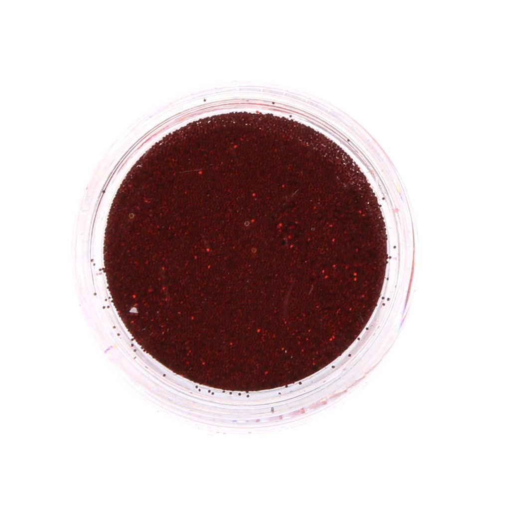 12 กล่อง Glitter Nail Art TATTOO Body Paint Pigment ผงฝุ่นสำหรับตกแต่งเล็บออกแบบ