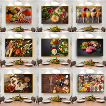 Kitchen Grains Spices Spoon Peppers Food Canvas Painting Posters and Prints Wall Art Picture for Room Home Decoration Cuadros