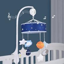 Qwz Baby Rammelaars Wieg Mobiles Speelgoed Houder Roterende Mobiele Bed Bel Musical Sterrenhemel 0-12 Maanden Pasgeboren Baby baby Jongen Speelgoed
