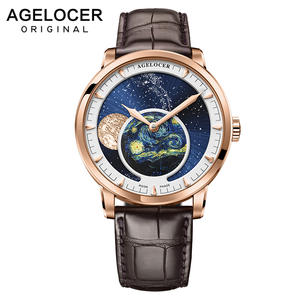AGELOCER Men Watches Mechanical Swiss Business-Moonphase Automatic Luxury Waterproof