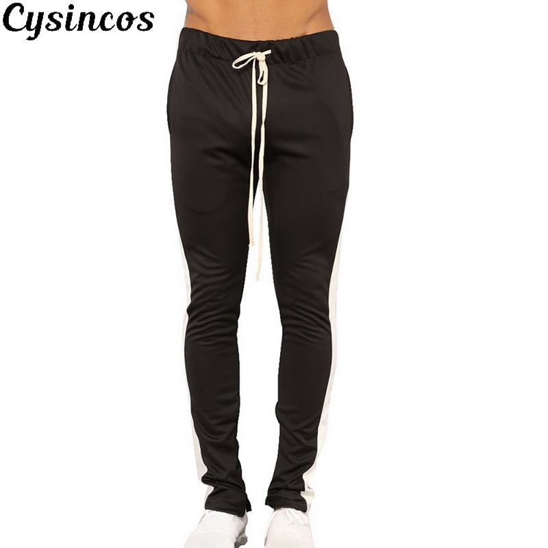 CYSINCOS Trousers Sportswear Tracksuit Joggers-Pants Patchwork Fitness Gyms Casual New