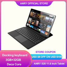 ANRY 2 In 1 4G Anruf Tablet 11,6 Zoll Deca Core Android 8,1 MTK6797T X25 8000mAh Dual sim IPS 1920*1080 Typ-C Wifi Tablet