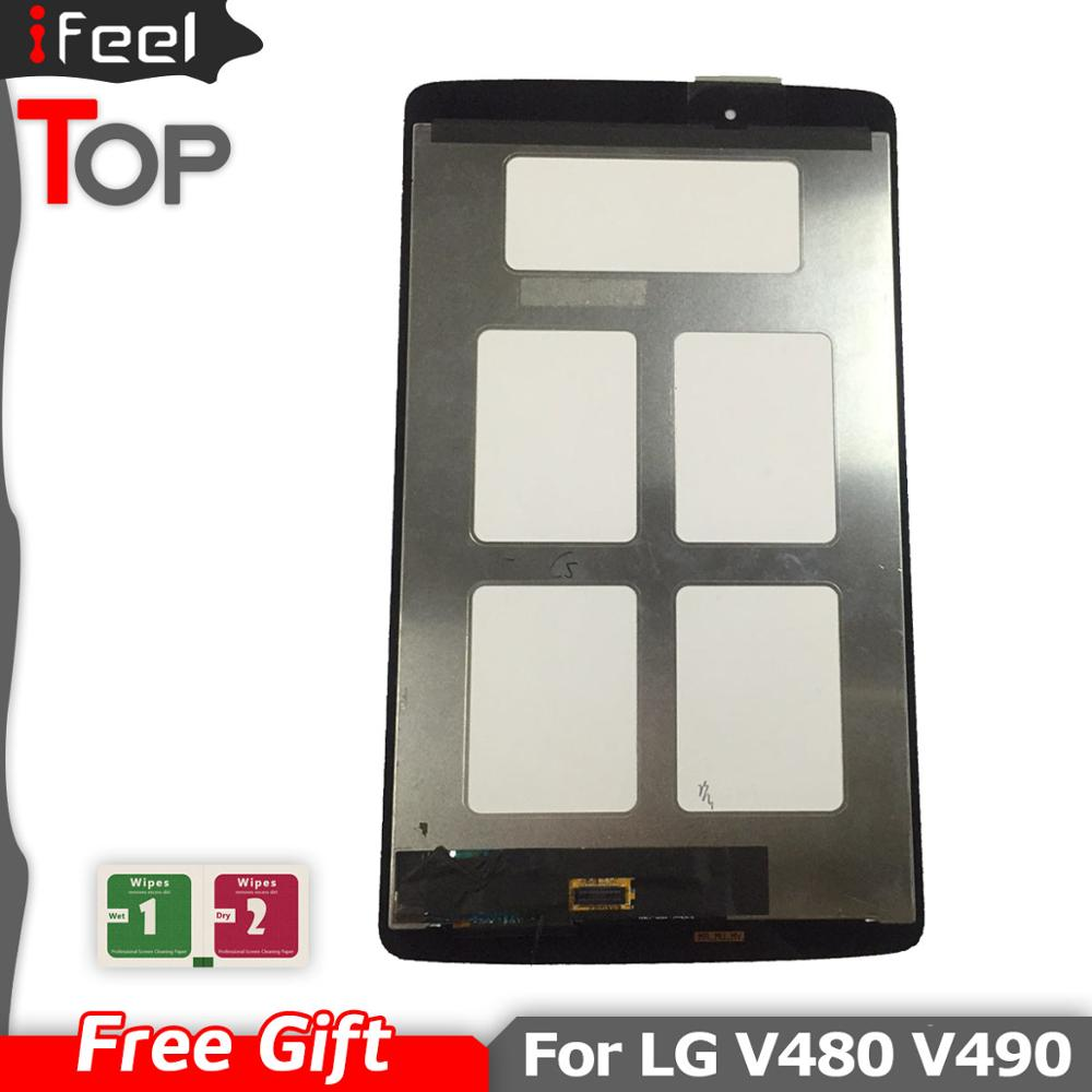 <font><b>LCD</b></font> Display <font><b>Touch</b></font> <font><b>Screen</b></font> Digitizer Sensor Glas Montage mit rahmen für <font><b>LG</b></font> G Pad 8,0 V480 <font><b>V490</b></font> image