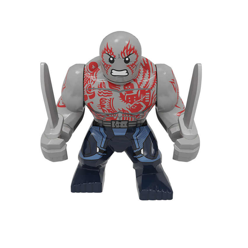 Single sale Super Heroes Anime Movie cartoon character Spiderman Hulk Deadpool Figures Building Blocks Bricks Toys Gifts
