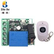 Relé de Control remoto inalámbrico Universal, 433MHz, 12V, 10A, 1CH, receptor y transmisor, controlador de encendido/apagado