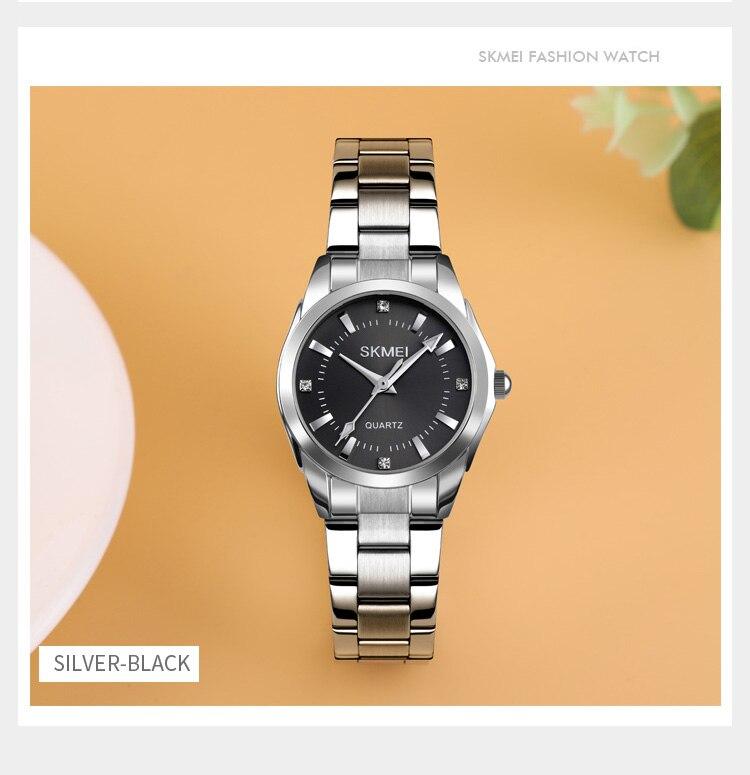 Hcdb129491c784931a3748cfb1cfa3b28h 2020 SKMEI Casual Women Romantic Quartz Watches Luxury Female Girl Clock Waterproof Ladies Wristwatches Relogio Feminino 1620
