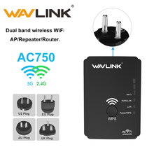 Wavlink Nirkabel WiFi Repeater 5G Hz Dual Band AC750 Wi Fi Range Extender Access Point/Mode Router WiFi Penguat Sinyal 750Mbps(China)