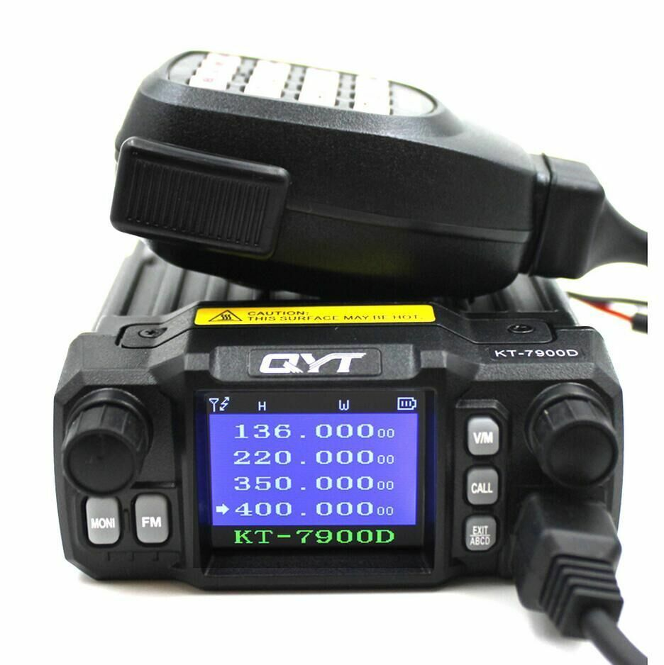 QYT KT-7900D Mini Radio Woki Toki Quad-Band 25W 350-390/400-480MHZ