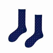 Funny Men Cotton Socks Polka Dot Stripe Pattern Ankle Happy Sox Wedding Brand Ha