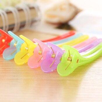 Wholesale 50pcs Rainbow Color Hair Clip Salon Duckbill Barber Tool Accessories
