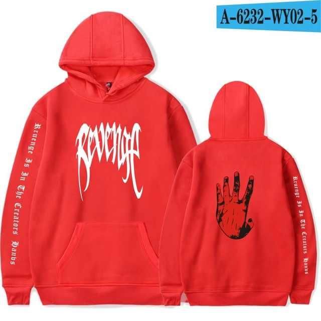 Kualitas Tinggi Klasik Xxxtentacion Balas Dendam Hoodies Pria/Wanita Kaus Rapper Hip Hop Hoodie Sweatershirts Pria/Pakaian Wanita