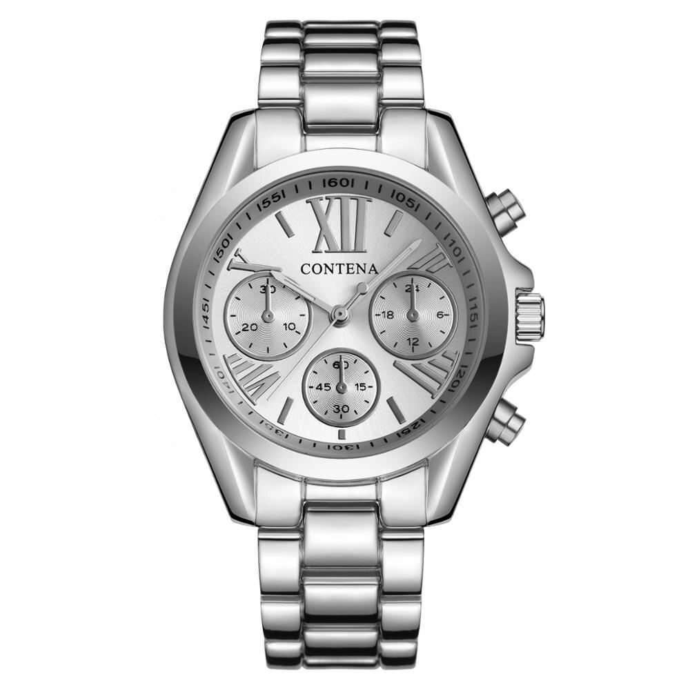 CONTENA 2019 Ladies's Watches Quartz Watch Stainless Steel Diamond Relogio Feminino Women's Dress Watch Clock Reloj Muje