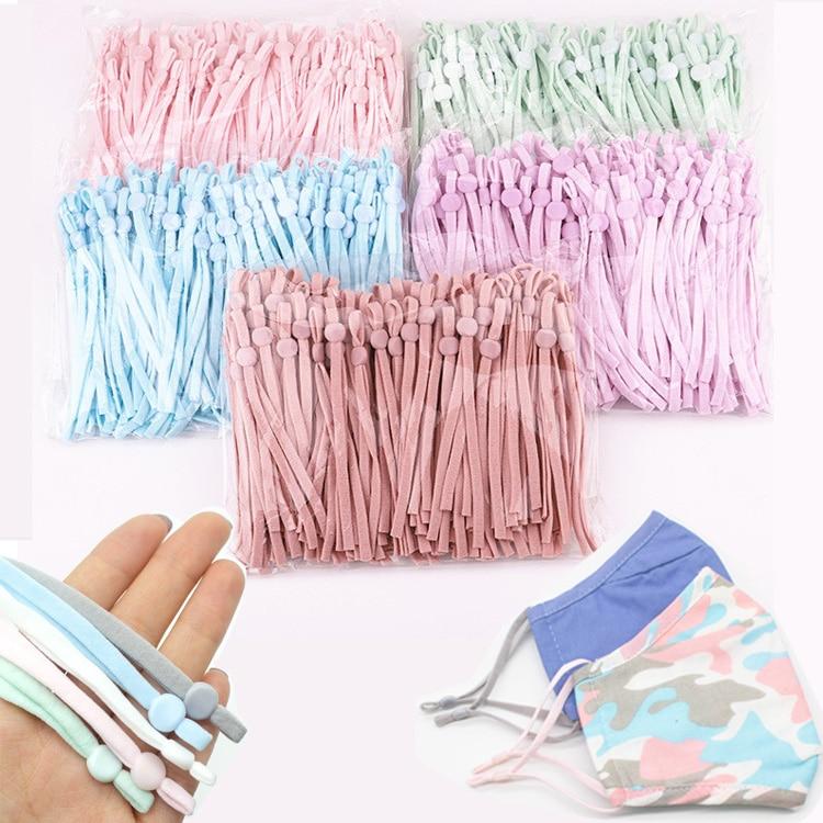 Adjustable-Mask Lanyard Buckle Elastic-Band-Cord Sewing Earmuff-Rope Making-Supplies