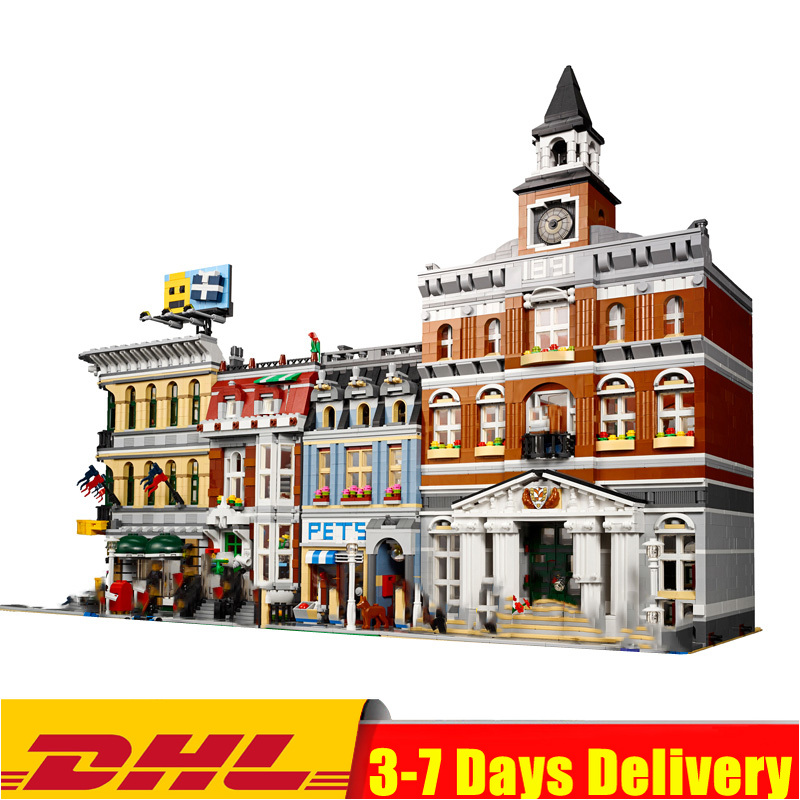 IN Stock 15003 Town Hall 15005 Grand Emporium 15009 Pet Shop Building Block Bricks Toys Christmas Compatible  10224 10211 10218