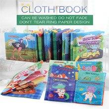 Ребенок игрушки кроватка бампер Newbron ткань книга младенец погремушки знания вокруг мультитач красочный кровать бампер ребенок игрушки 0-12 месяцев