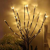 20 luz simulação ramo de árvore led luz decorações de natal para casa decorações de árvore de natal decoração de ano novo natal noel