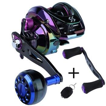 Sougayilang Baitcasting Reel 6.3:1 Gear Ratio with 2 Style Handle Fishing Reel Magnetic Braking System 8KG Max Drag Fishing Reel