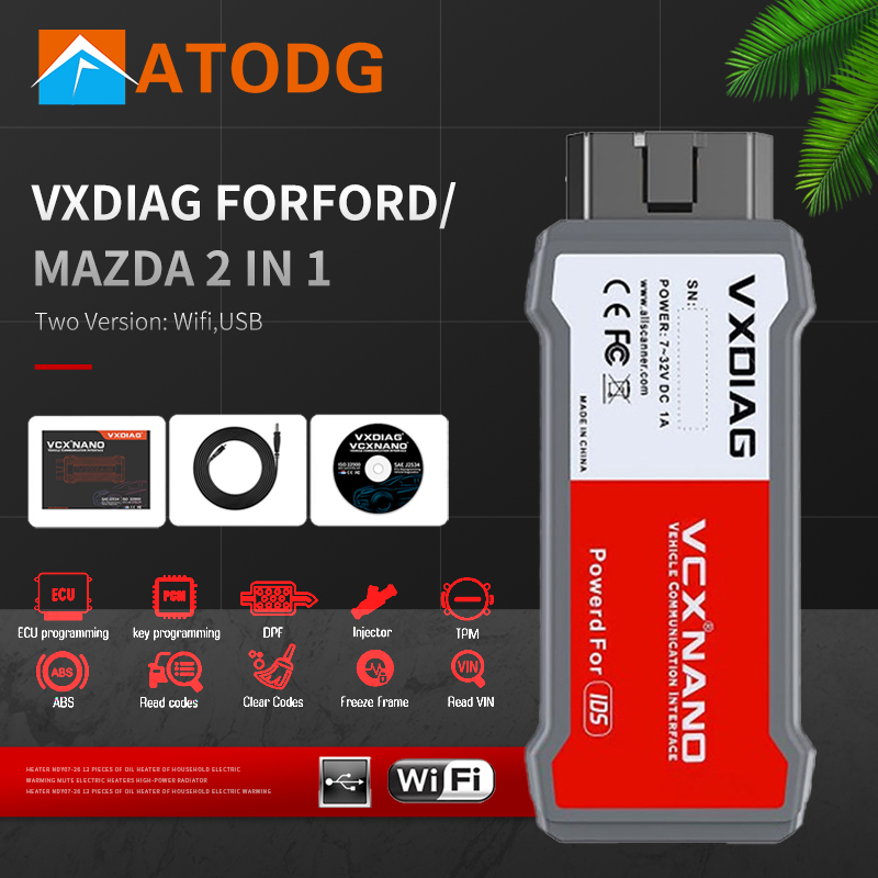 VXDIAG VCX NANO For Ford For Mazda OBD2 Diagnostic ToolS 2 in 1 IDS V117 V114 WiFi Scanner For Mazda PCM, ABS,Programming 5.0 Car Diagnostic Cables & Connectors  - AliExpress