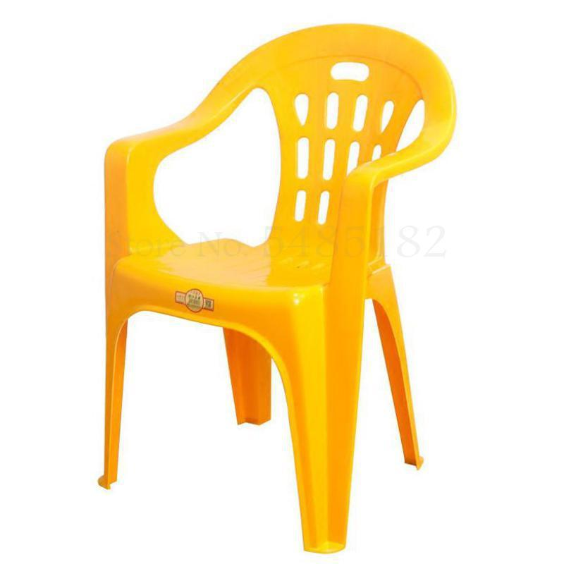 Plastic backrest chair thick modern minimalist adult stool  stall plastic arm dining  home