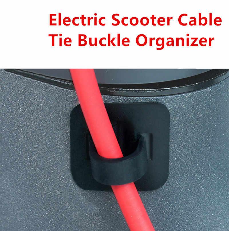 1 pièces organisateur de boucle de cravate de câble de Scooter électrique pour Xiaomi M365 et pour M365 Pro accessoires de planche à roulettes de Scooter électrique