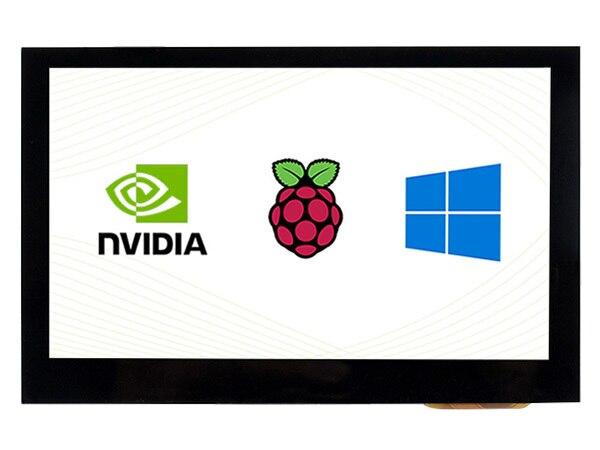 4.3 cala, 800x480, pojemnościowy ekran dotykowy, interfejs HDMI, obsługuje wiele mini komputerów/wielu systemów, IPS , 4.3 cala HDMI LCD (B)