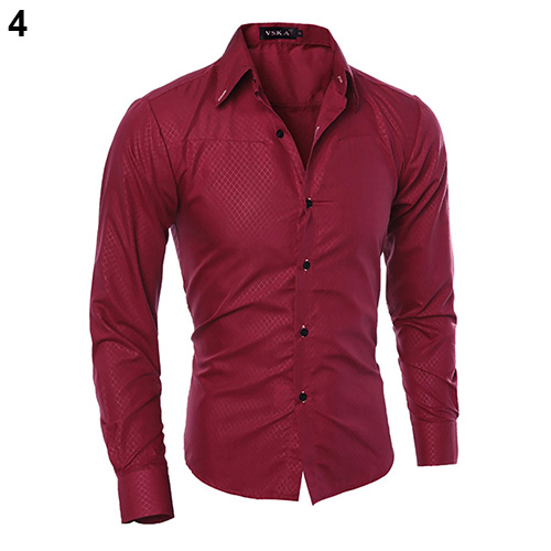New Argyle luxury men's top Formal Social Business Style Slim Soft Comfort Long Sleeve Casual Dress Tops Gift For Men Clothing 5