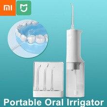 شاومي Mijia عن طريق الفم الري الكهربائية المحمولة دودة الحرير المياه النفاثة تنظيف الأسنان الأنظف فرشاة 2200mAh TypeC ميناء 200 مللي خزان