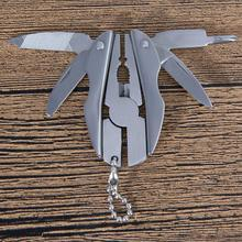 Multifunction Folding Plier Stainless Steel Foldaway Knife Keychain Screwdriver Camping
