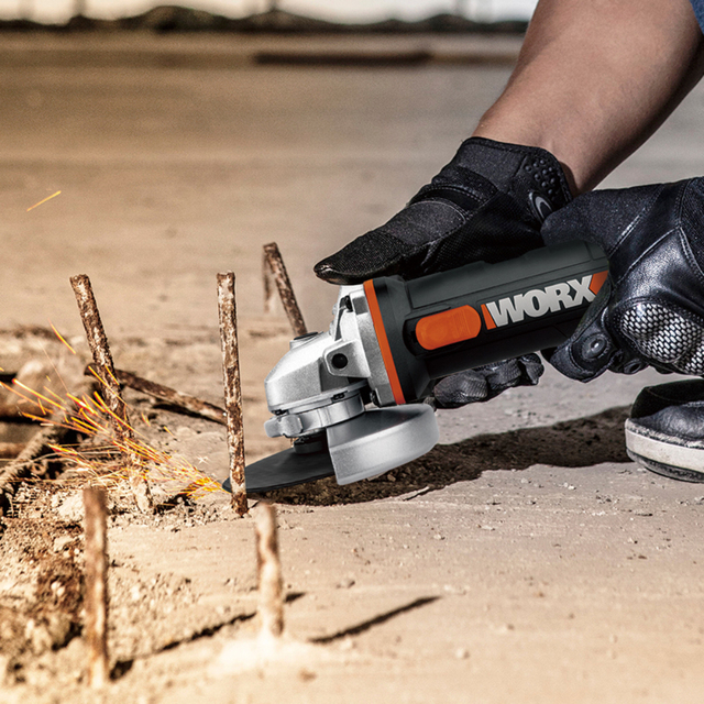 Worx 20V Mini Grinder WX800 115mm Cordless Angle-Grinder Electric Tools Grinding Machine Rechargerable 20V Powershare +Tool Case 6