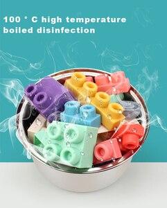 Image 4 - התאגרף תינוק צעצוע 3D רך פלסטיק אבני בניין תואם מגע יד נשכן בלוקים DIY גומי בלוק צעצוע לילדים מתנה