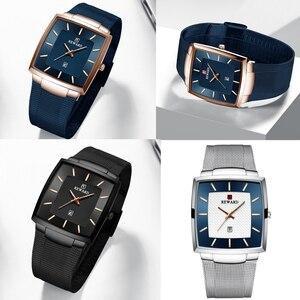 Image 5 - Relogio Masculino 2020 Mens שעונים למעלה מותג יוקרה עסקים גדול זכר שעוני יד עמיד למים מינימליסטי כיכר שעון גברים 2020