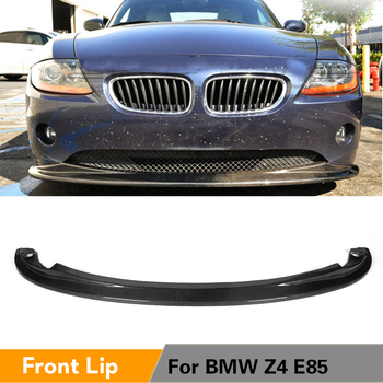Carbon Fiber Front Bumper Lip Spoiler Splitters for BMW Z4 E85 Convertible Coupe 2-Door 2002 - 2008 Car Styling image