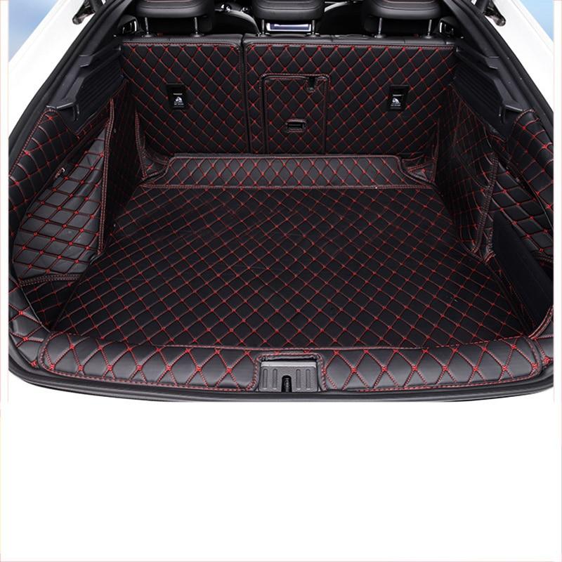 lsrtw2017 fiber leather car trunk mat curtain for volkswagen arteon 2017 2018 2019