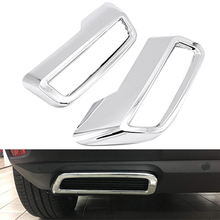 for Peugeot 3008 5008 Allure 2017 – 2019 Exhaust Pipe Tail Cover ABS Rear Exhaust Muffler End Pipe Cover Decoration Trim