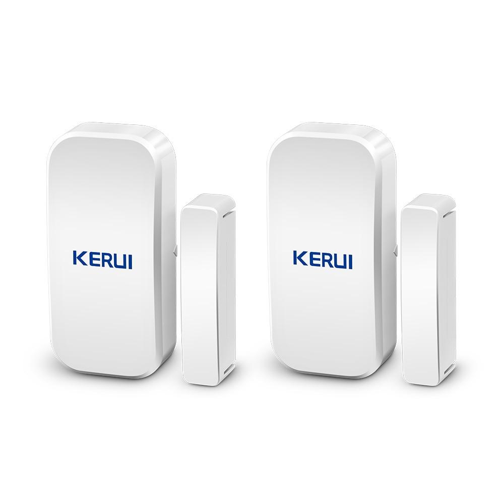 Kerui D025 2 шт. Беспроводной магнитный детектор для дверей и окон, датчик зазора 433 МГц, домашняя система охранной сигнализации с сенсорной клави...