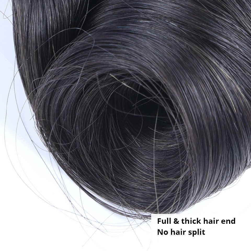 Brasilianische Haarwebart Bundles Ei Geschweiften Doppel Gezogen 12A Funmi Unverarbeitete Reine Haar H Natürliche Farbe