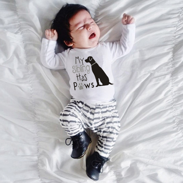 Long sleeve dog Printing <font><b>baby</b></font> girl <font><b>clothes</b></font> <font><b>New</b></font> <font><b>Born</b></font> <font><b>Baby</b></font> <font><b>Clothes</b></font> One-Pieces Romper Toddler Infant <font><b>Boys</b></font> Jumpsuit Outfits image