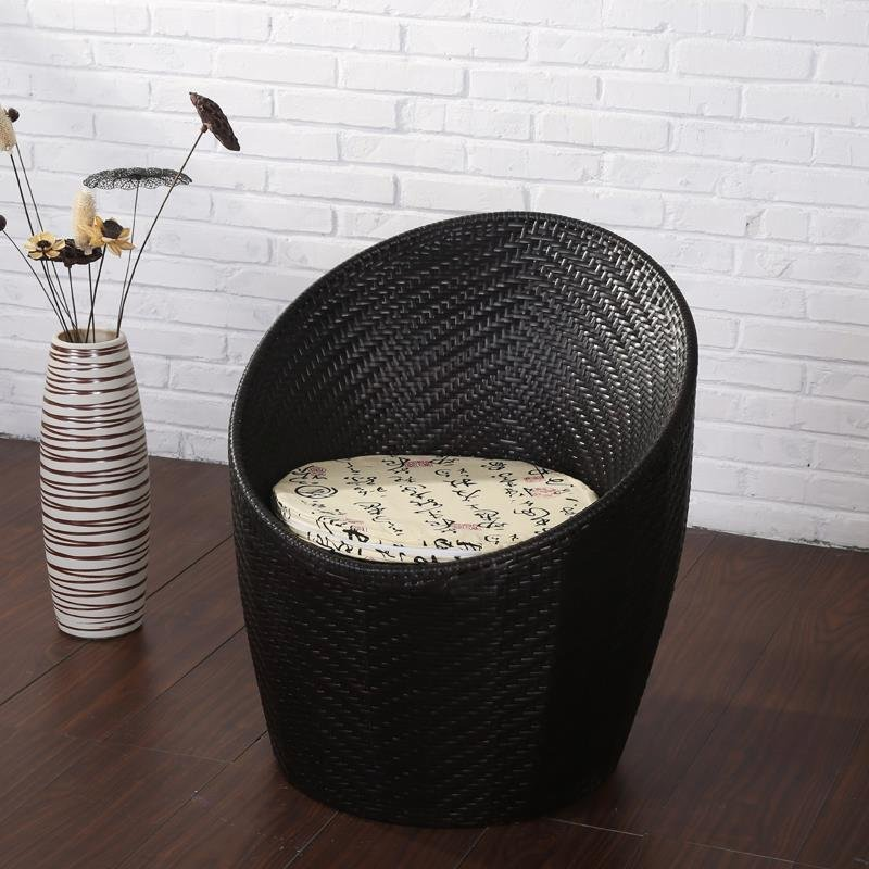 Balcony Table And Chair Wicker Chair Small Coffee Table Combination Simple Leisure Outdoor Outdoor Garden Chair
