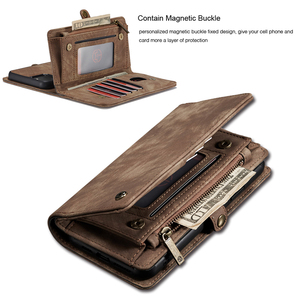 Image 2 - For iPhone 12 Pro SE 2020 6 6s 7 8 Plus XS Max XR 10 X XS Wallet Case Zipper Flip Leather Cover For iPhone 11 Pro Max Phone Case