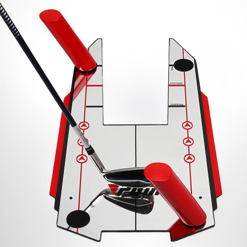 Golf Swing Straight Practice Golf Putting Mirror Alignment Training Aid Swing Trainer Eye Line Golf Accessories 30.8 X 51CM