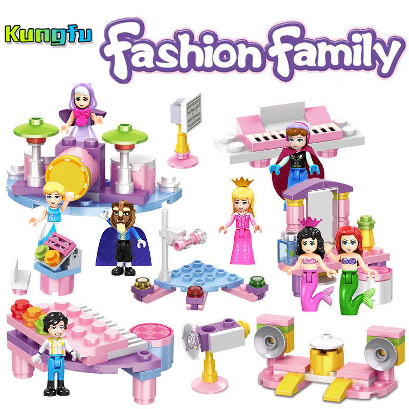 City series Princess Series Fairy Godmother Maleficen Compatible Legoings Princess Building Blocks Figures Toys Bulk Specials