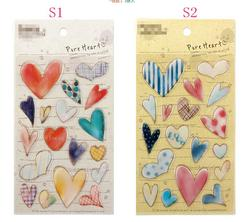 1sheet/lot Cute Lovely FUNNY Crystal Heart Sticker Two Selections Children Stickers Kawaii Creative Stationery