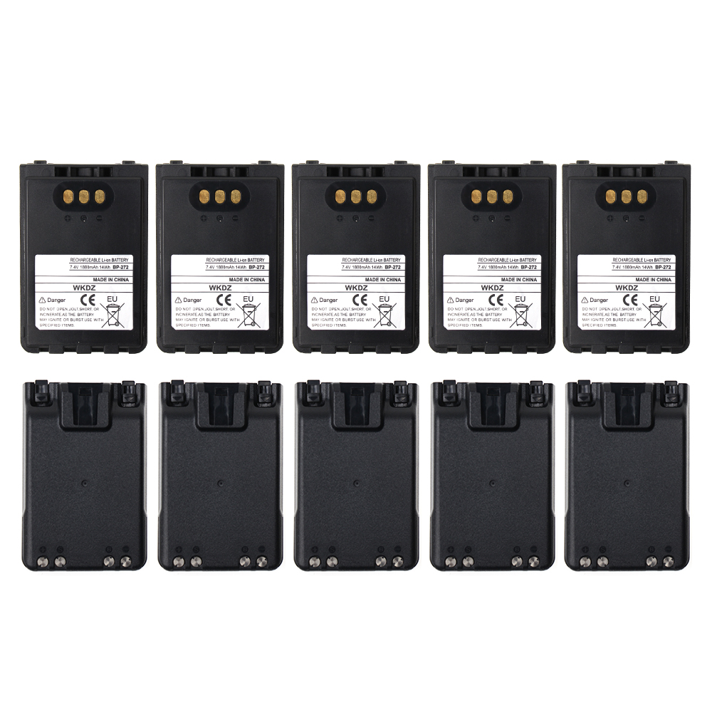 10x BP272 Battery For IC-31A 31E 51A 51E ICOM Radio Replacement Battery + Belt Clip,1880mAh