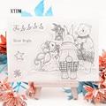 Лидер продаж, прозрачный штамп в виде кролика, силиконовый альбом для скрапбукинга «сделай сам», изготовление открыток