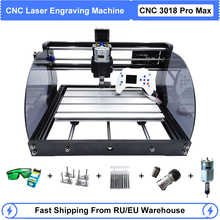 CNC 3018 Pro Max Laser Engraver Wood CNC Router GRBL DIY 3 Axis Milling Laser Engraving Machine With Offline Controller 0.5W-15W