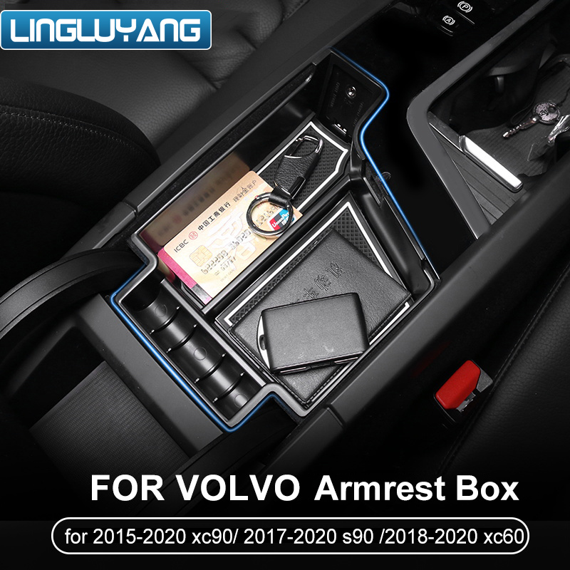 Suitable For Volvo 2017-2019 S90/2015-2019 Xc90 Modified Door Handle Storage Box New 2019 Volvo Xc60 Armrest Box V90cc